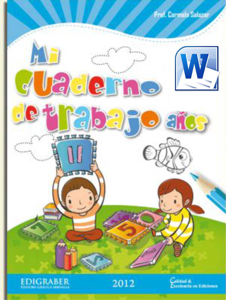 CUADERNO DE TRABAJO COMUNICACIÓN PARTE 1 - 5 AÑOS ~ MATERIALES ...