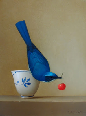 bird still life painting