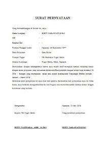 Download Surat Pernyataan Aktif Mengajar Untuk Pencairan Tunjangan Profesi
