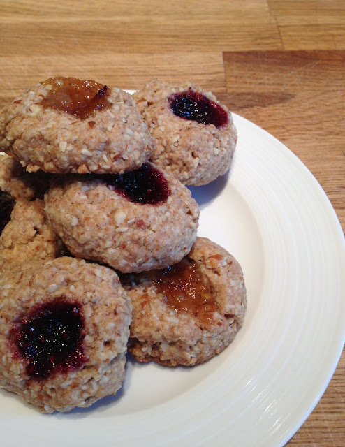 Sugar-free thumbprint cookies