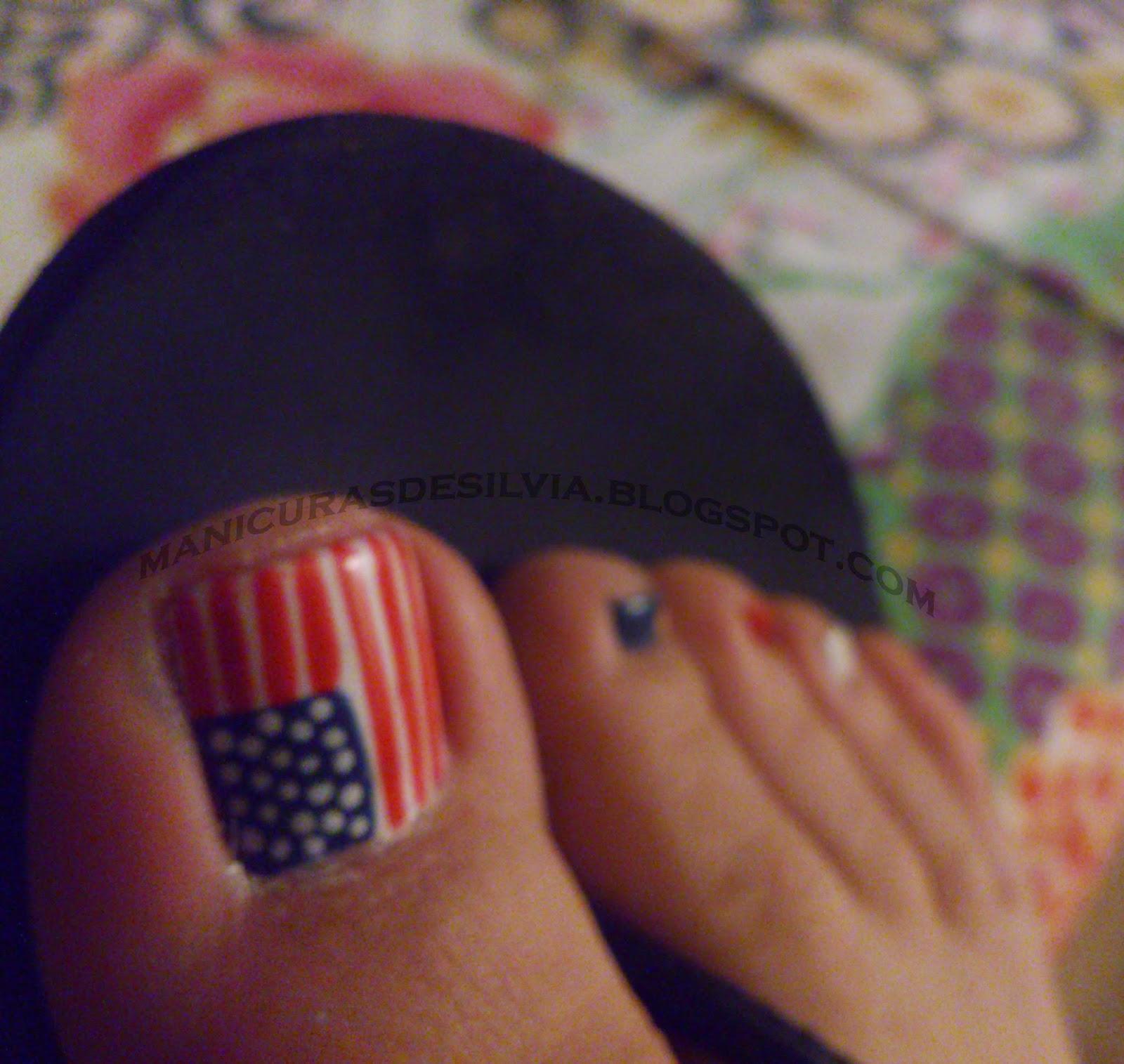 Manicuras De Silvia La Bandera Americana En Los Pies The American