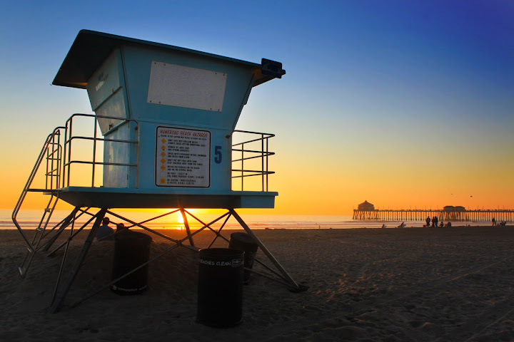 Huntington Beach Liuard Towers The Best Beaches In World