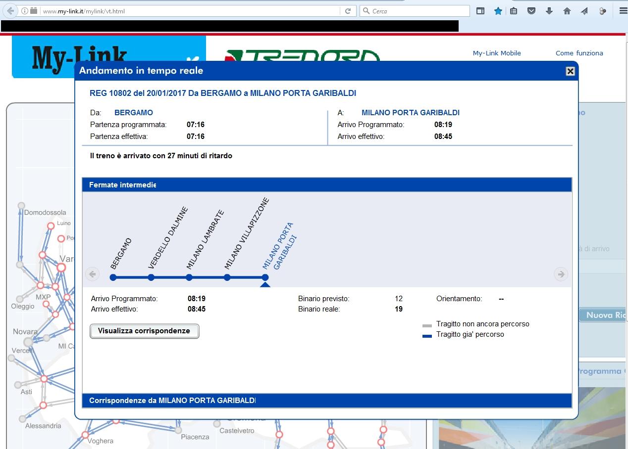 Un pendolare e i treni in lombardia - Treno milano porta garibaldi bergamo ...