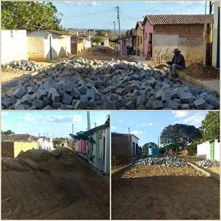 Iniciado os trabalhos de pavimentação de ruas em Serra dos Brandões em Picuí