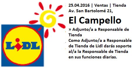 Lanzadera de Empleo Virtual Alicante, Oferta Lidl El Campello
