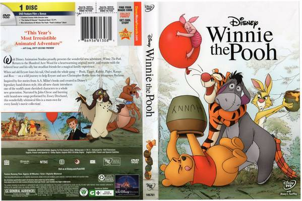 DVD cover Winnie the Pooh 2011 Disney movie