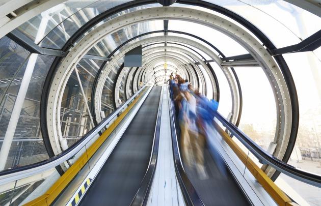 Túnel do Museu Georges Pompidou em Paris
