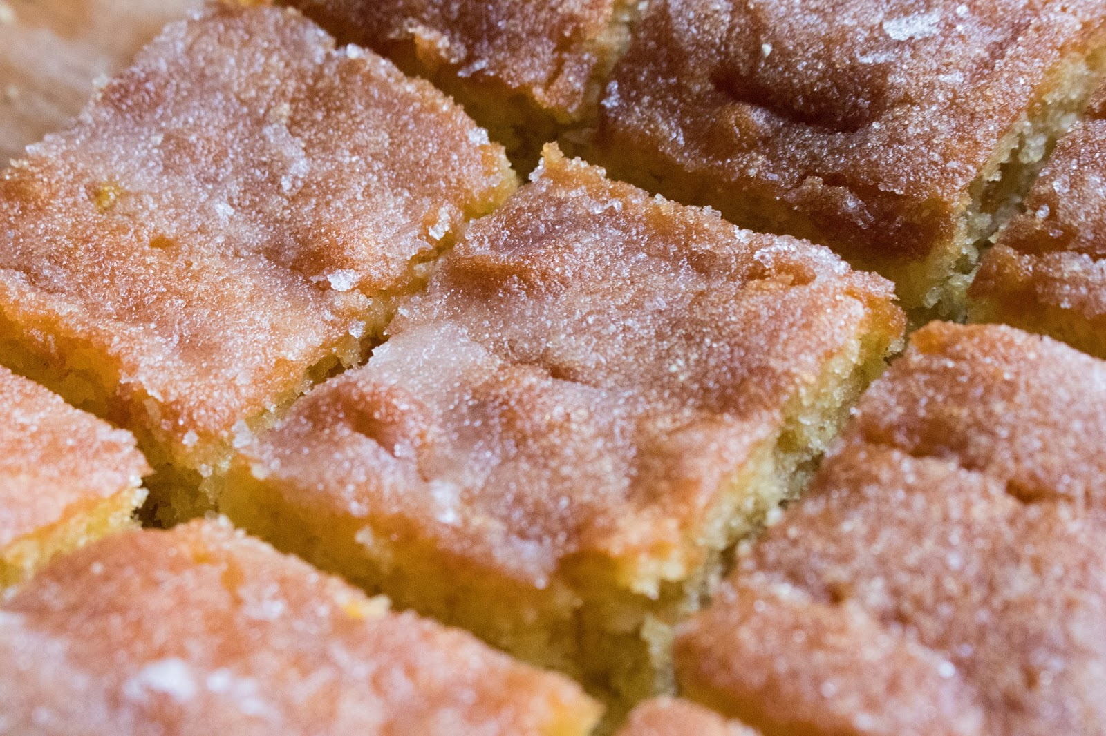 Close up of lemon/sugar topping