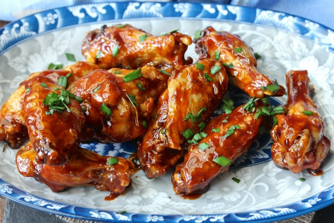 Air Fryer Sriracha-Honey Wings from Karen's Kitchen Stories