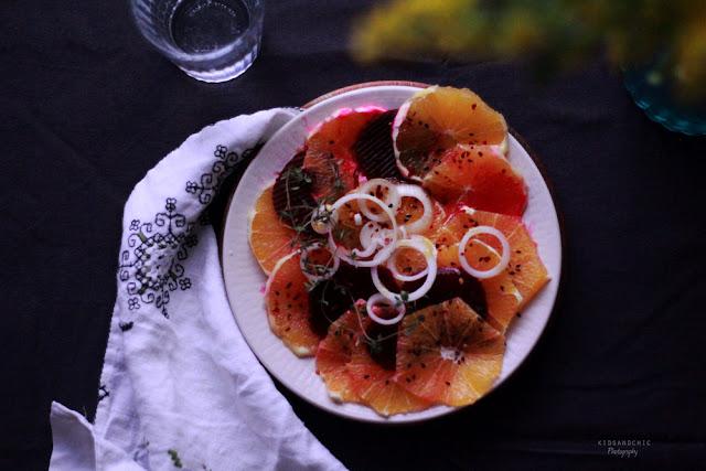 Ensalada de naranja y remolacha