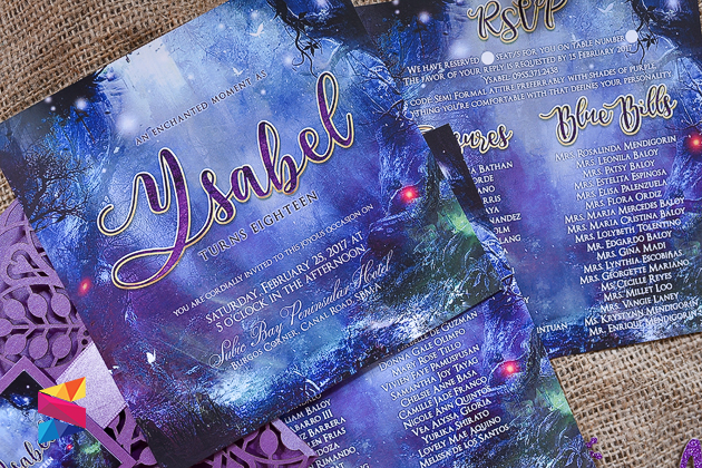 Enchanted Forest Themed Wedding Invitations: Enchanted Themd Debut Invitation