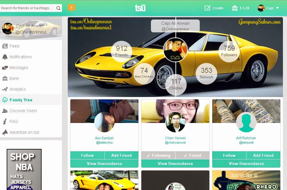 Halaman Depan Jejaring Sosial Tsu