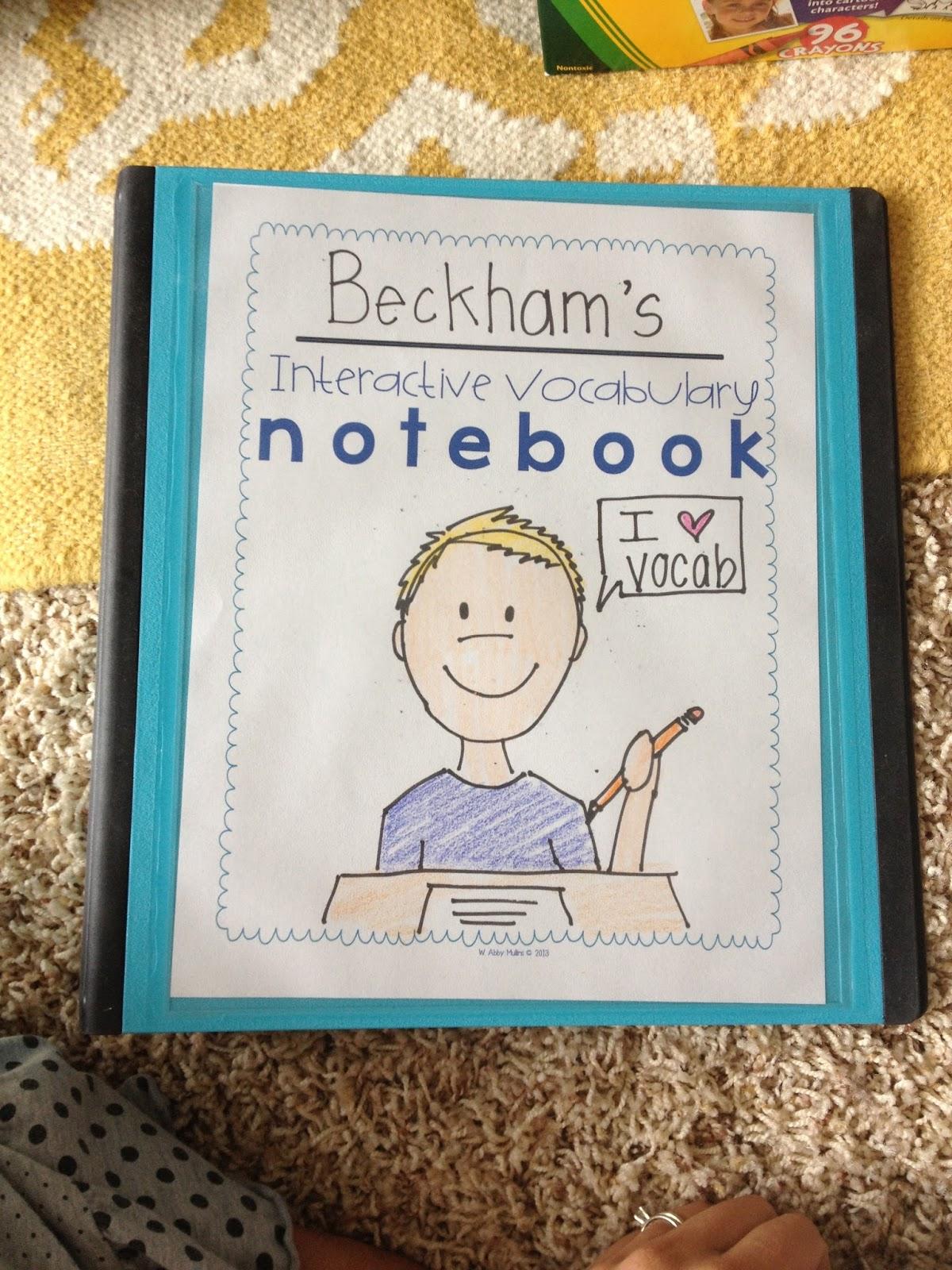 Interactive Vocabulary Notebooks