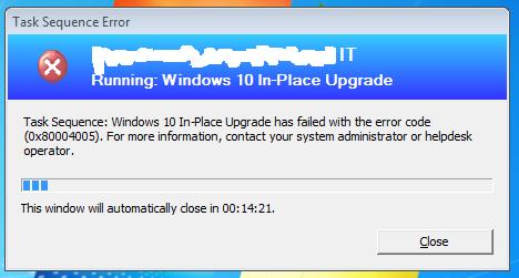 SCCM CB 1610 In-Place Windows 7 to Windows 10 CB1607 Upgrade Task