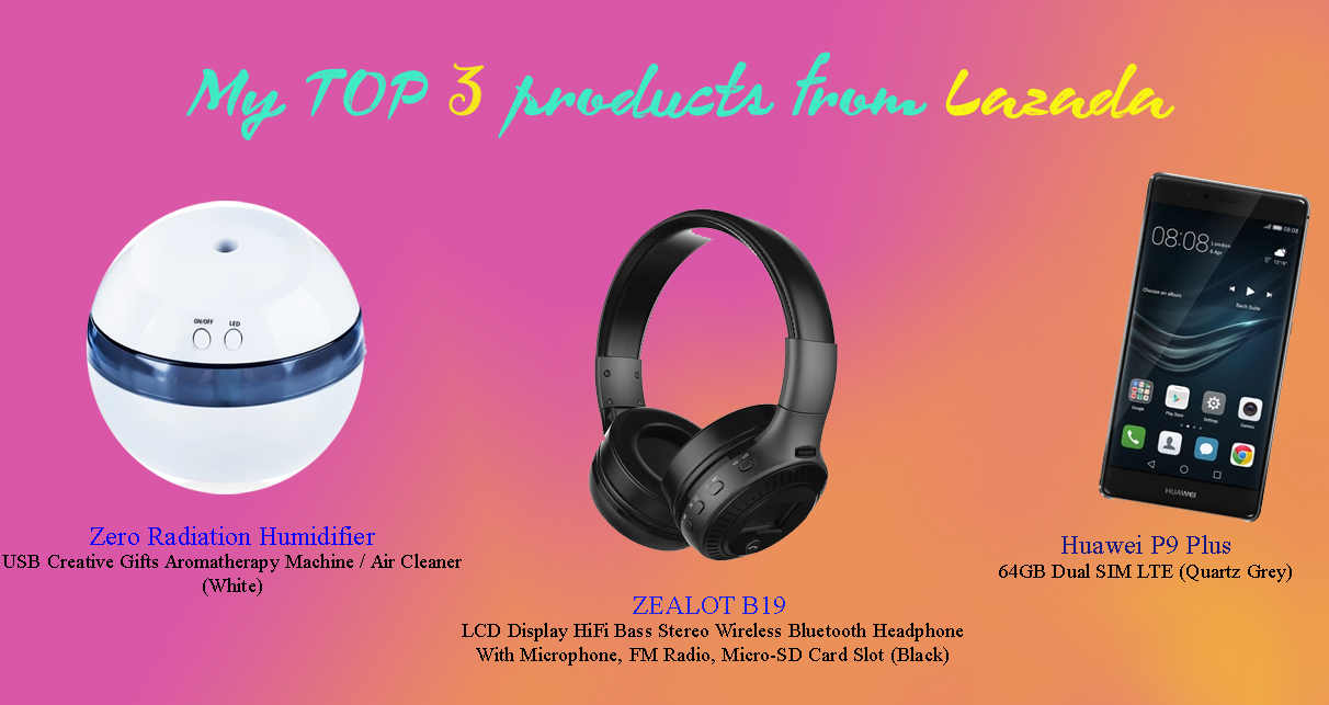 lazada, products, top 3
