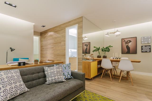 Blog Achados de Decoração - Apartamento 2 dormitórios Studio - Leandro Neves