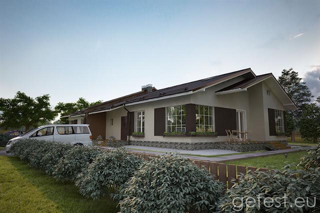 Одноэтажный двухквартирный дом на двух хозяев: Дуплекс