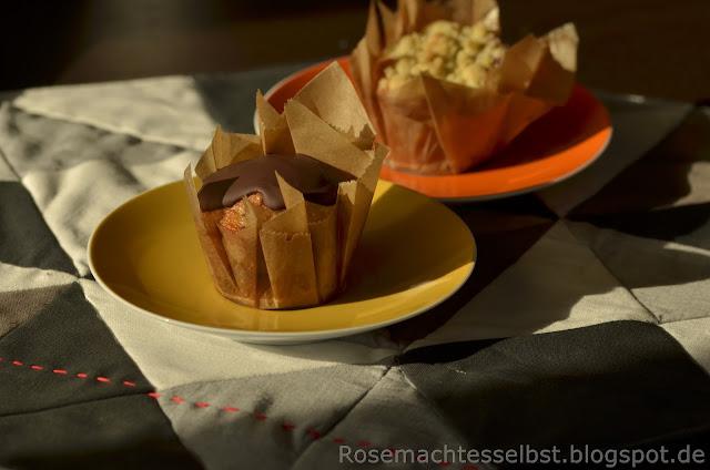 Muffins backen Schokolade Beeren