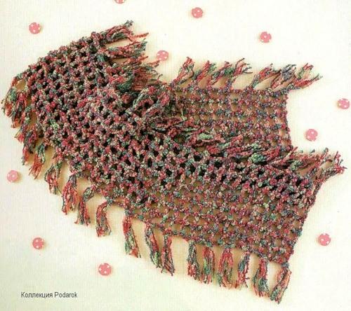 Patron Crochet Bufanda Cuadrados