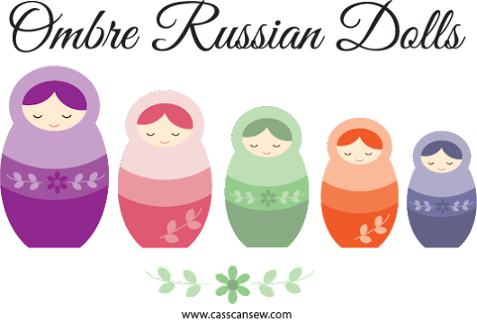 Free Applique Template: Ombre Russian Dolls