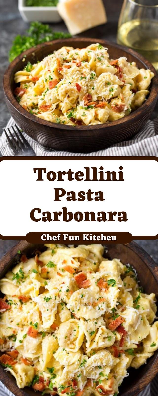 Tortellini Pasta Carbonara