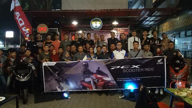 Ajak Pecinta New Honda PCX Meriahkan PCX Scooter Ride Palembang