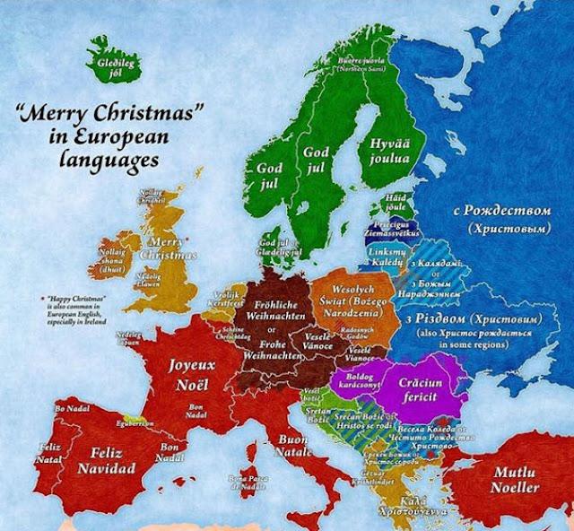 landkartenblog europakarte frohe weihnachten in. Black Bedroom Furniture Sets. Home Design Ideas