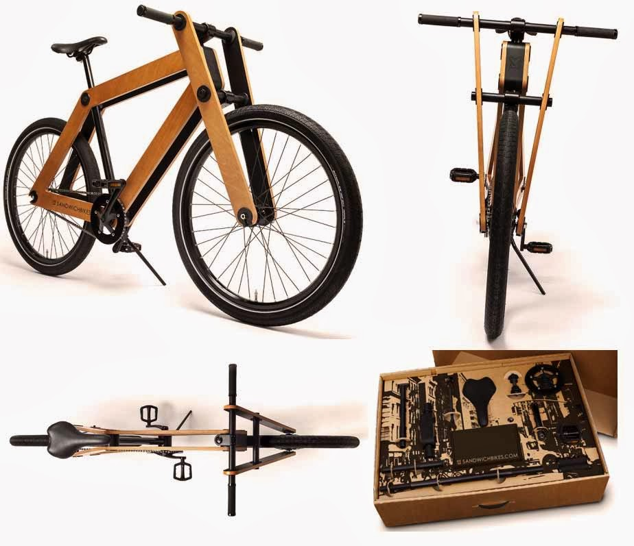 The Sandwichbike is wooden-framed bikes