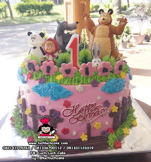 Kue Tart Ulang Tahun Masha and The Bear