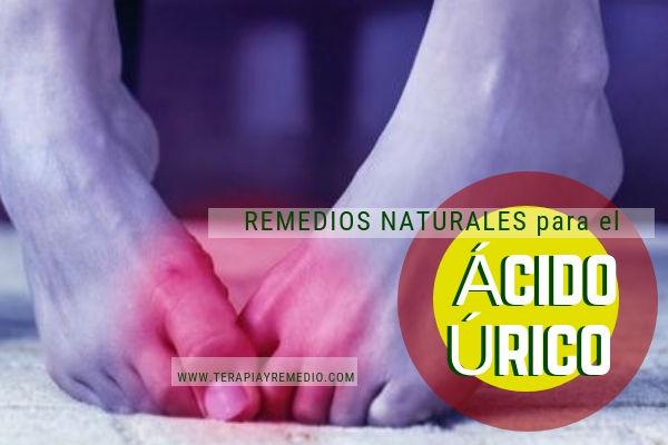 Remedios naturales para bajar el ácido úrico