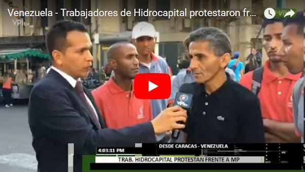 Protesta de empleados de Hidrocapital por muerte accidental de un compañero