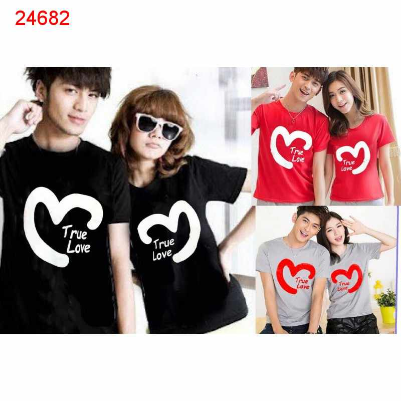 Jual Baju Couple True Love Heart - 24682