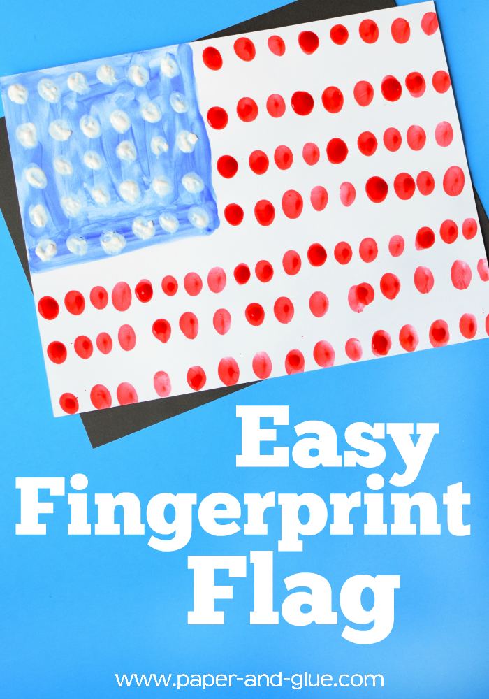 Fourth Of July Fingerprint Flag What Can We Do With Paper And Glue