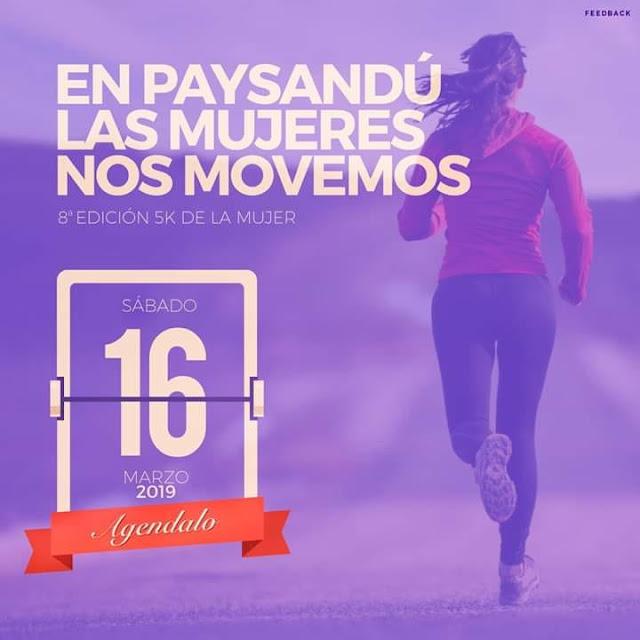 5k Carrera de la mujer en Paysandú (16/mar/2019)