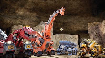 """Animação é protagonizada por máquinas pesadas em forma de dinossauros e se passa na """"Era Mecanozoica"""" - Divulgação"""