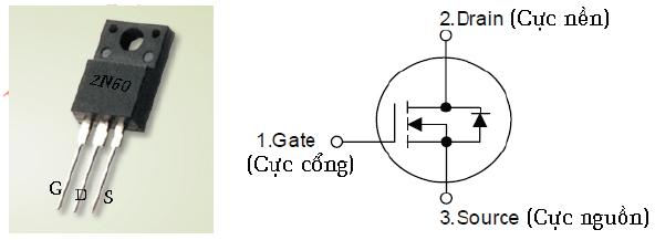 Hình 7 - Đèn công suất - Mosfet ngược ( N-Channel)