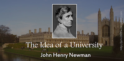 "Critical note on John Henry Newman's ""The Idea of a University"""