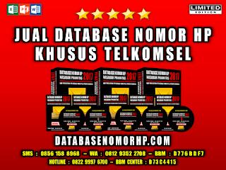 Jual Database Nomor HP Khusus Operator Telkomsel