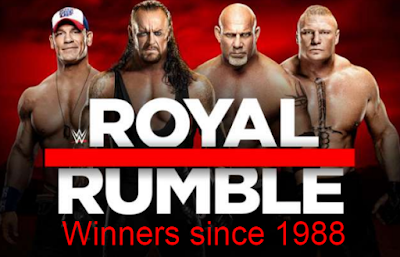 wwe, royal rumble, winners, champions, names, list, since 1988, 2021.