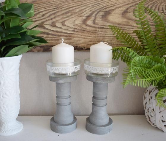 DIY - Jak zrobić świecznik z nóżek od fotela?