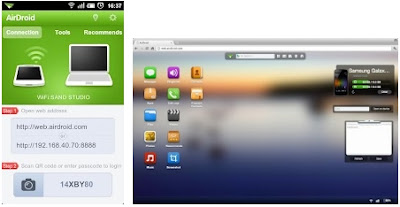 APP ANDROID PER CONTROLLARE DISPOSITIVI ANDROID DAL BROWSER DEL PC
