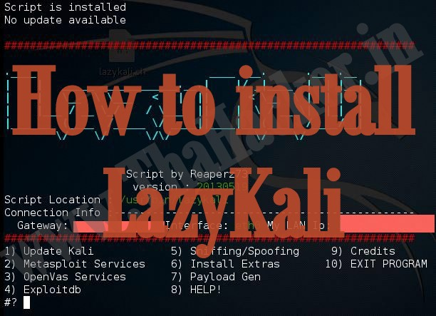 How to Install LazyKali