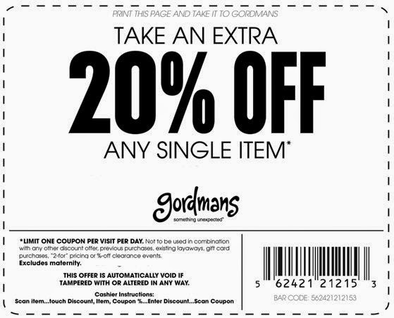 Gordmans Printable Coupons May 2015