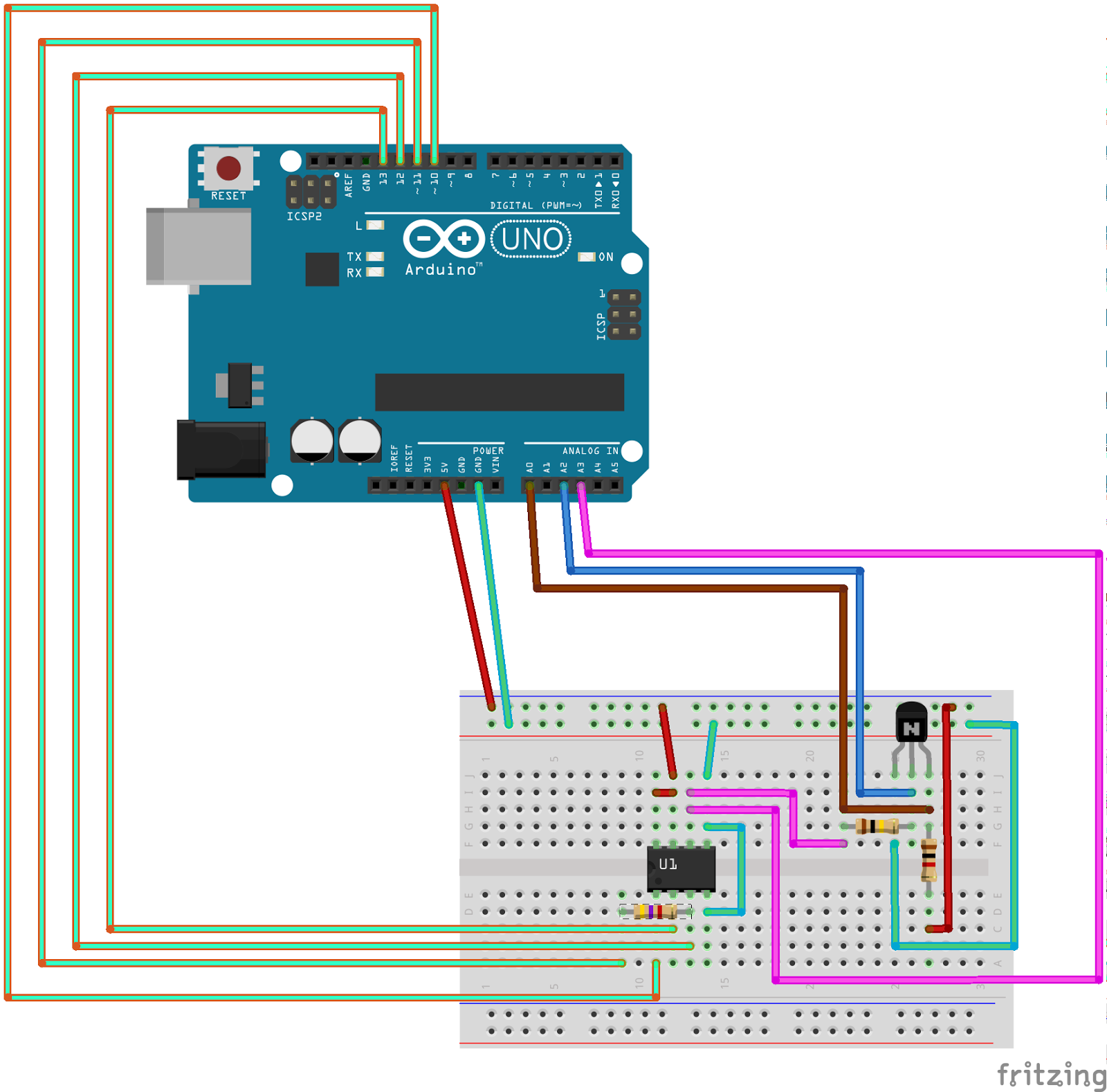 IOBLOCKS: Build a simple Transistor Curve Tracer using an