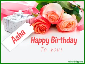 Happy Birthday Asha