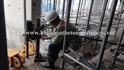 Khoan cắt bê tông tại huyện Gò Dầu