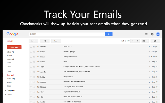 show me how to find specific emails on gmail