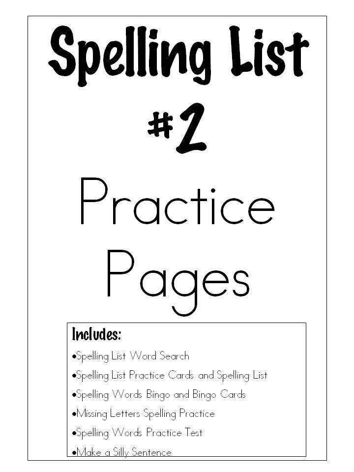 Learn and Grow Designs Website: Spelling List #2 Practice