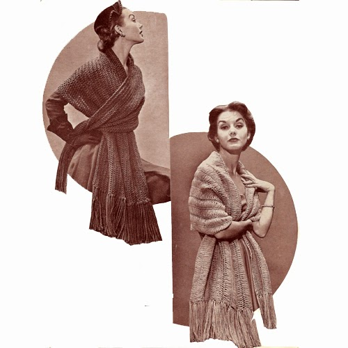 Shawl or Stole Knitting and Crochet Pattern