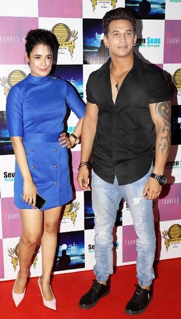 Yuvika and Prince in Award function